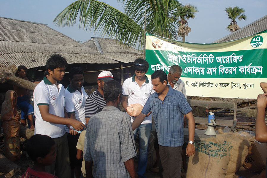 CSR works in Aila affected areas