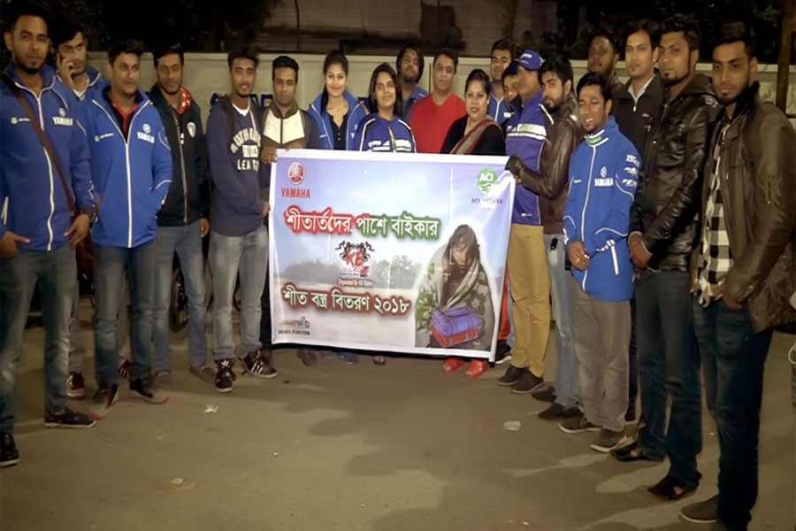 Winter Clothes Distribution by Yamaha